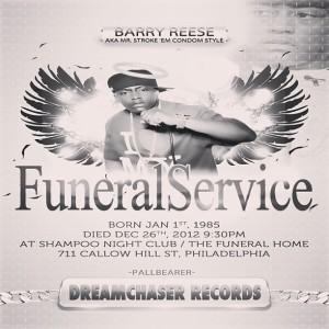 Mock funeral program for Cassidy, Source: Instagram